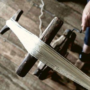 fazer meadas de lã